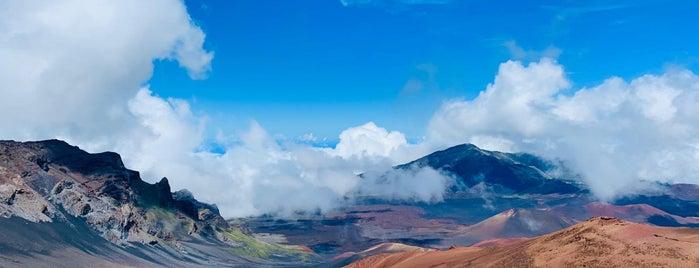 haleakala crater is one of Maui.