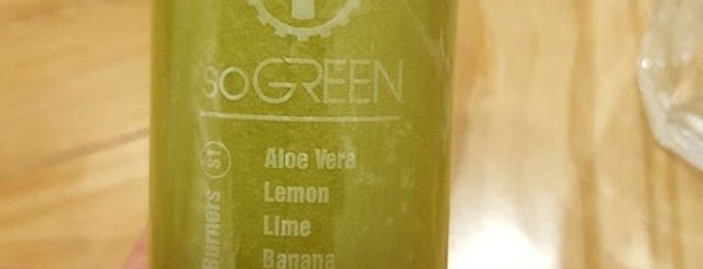soGREEN cold pressed juice boutique is one of hanoi.