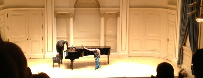 Weill Recital Hall at Carnegie Hall is one of Performance Spaces.