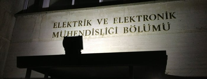 Elektrik-Elektronik Mühendisliği Bölümü is one of Must Visit in Ankara.