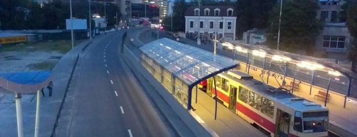 Станцiя швидкiсного трамваю «Площа Перемоги» is one of Locais curtidos por Dmitry.