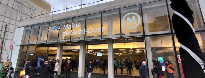 Métro Mairie de Saint-Ouen [13, 14] is one of Went before.