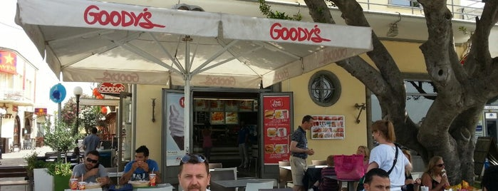 Goody's Burger House is one of Mykanos-Santorini-Kos-Bodrum.