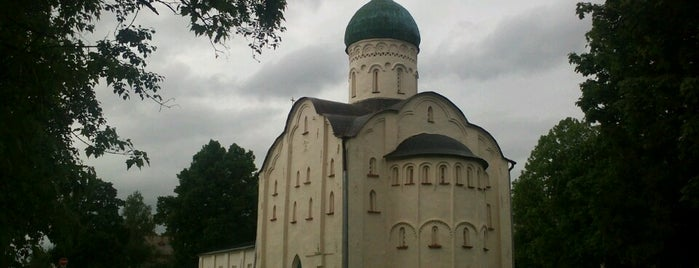 Церковь Федора Стратилата на Ручью is one of Novgorod.