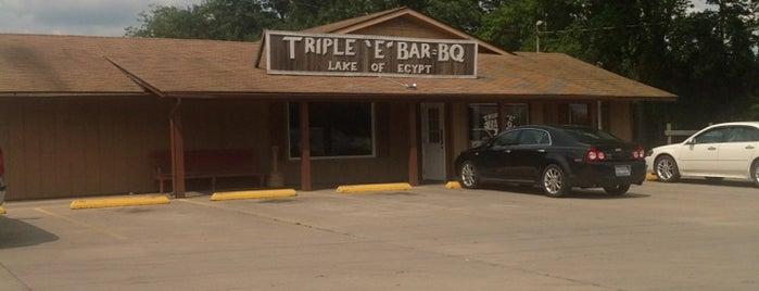 Triple E Bar-B-Que is one of Orte, die Brad gefallen.