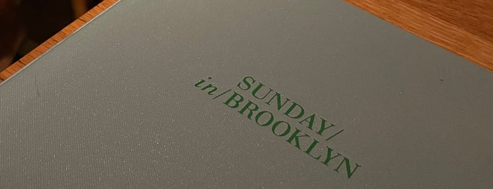Sunday In Brooklyn is one of London 2021.