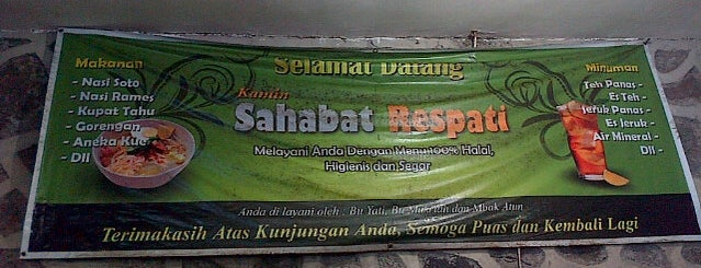 "Kantin ""Sahabat Respati"" is one of Dinni 님이 저장한 장소."