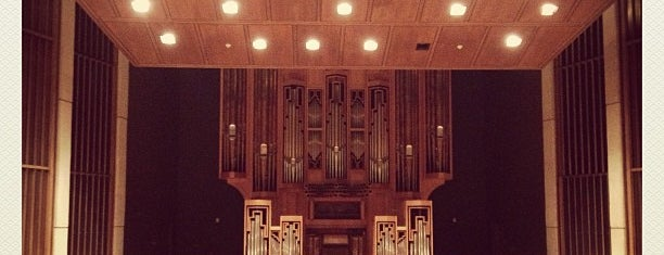 Music Building and Recital Hall (MRH) is one of Favorites.