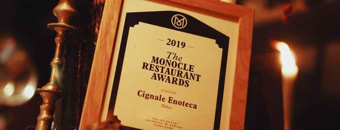 Cignale ENOTECA is one of Tokyo to do.