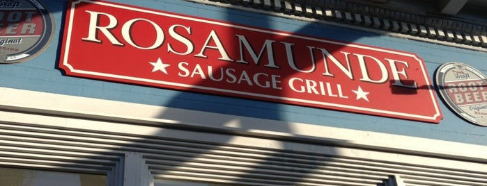 Rosamunde Sausage Grill is one of Cafes/Restaurants SF Done.