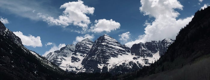 Maroon Bells, Aspen, Co is one of Rest of Colorado Eat and See.
