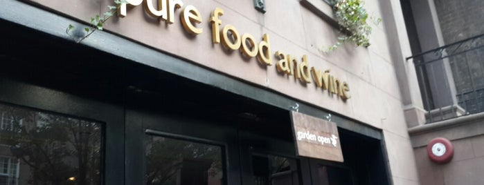 Pure Food and Wine is one of Healthy Living NY.