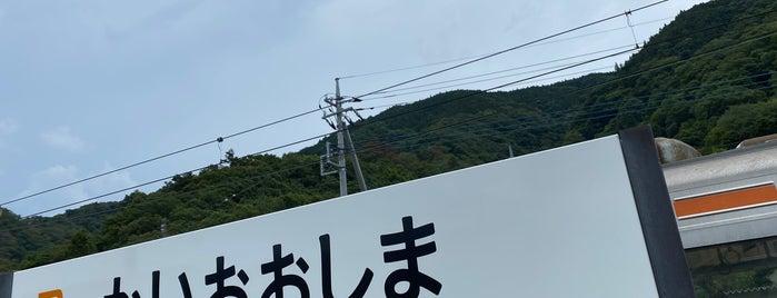 Kai-Ōshima Station is one of JR 고신에쓰지방역 (JR 甲信越地方の駅).