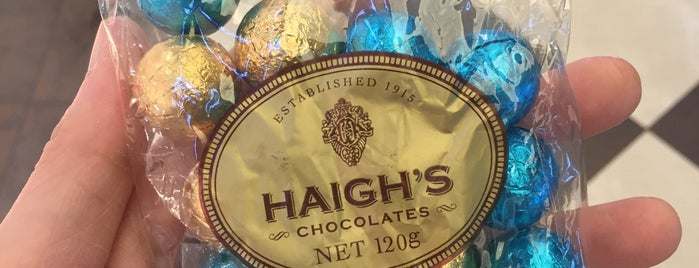 Haigh's Chocolates is one of Melbourne.