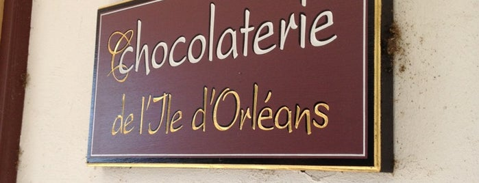 Chocolaterie de L'Ile D'Orléans is one of Quebec to-do/eat.
