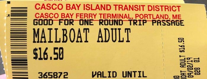Casco Bay Ferry Mailboat Run is one of Zach & Sam wedding weekend.