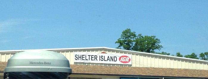Shelter Island IGA is one of Greenport.
