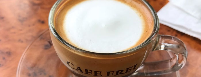 Cafe Frei is one of Coffee-bar-dessert favies.