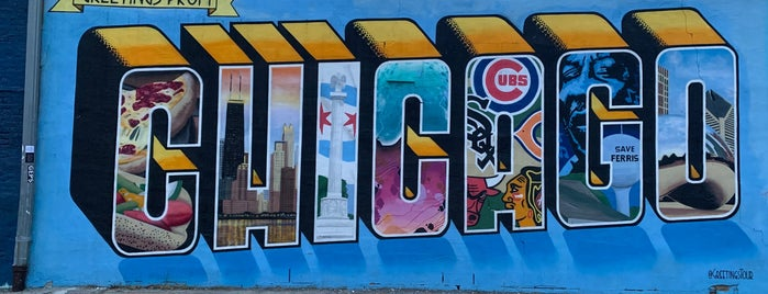 Greetings from Chicago Mural is one of Chicago.