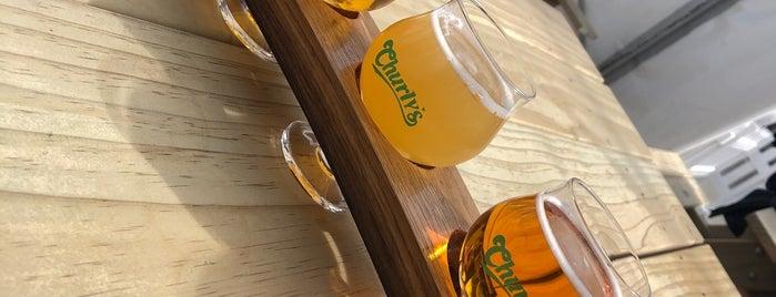 Churly's - Brew Pub & Eatery is one of Tempat yang Disukai David.
