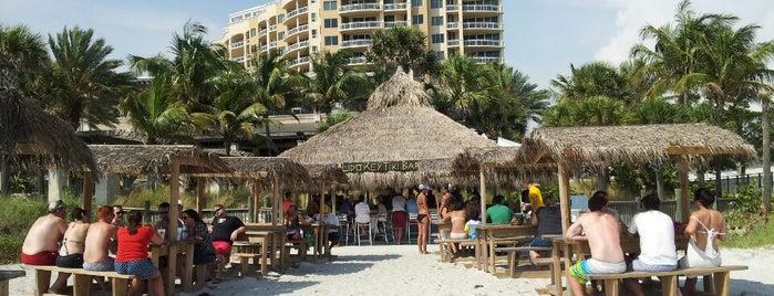 Lido Key Tiki Bar at the Ritz Carlton Beach Club is one of Florida Gems.