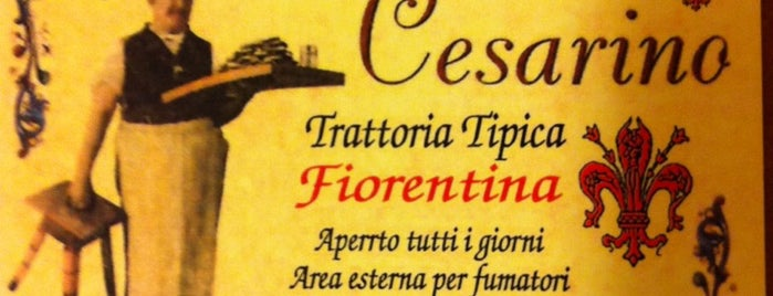 Restaurant Cesarino is one of Florence.