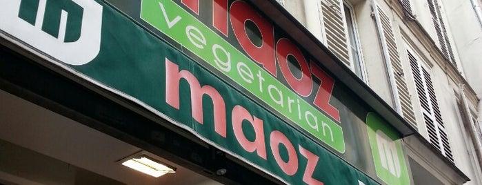 Maoz Vegetarian is one of Paris food.
