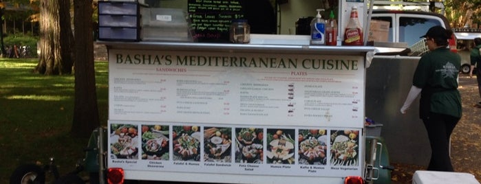 Basha's Mediterranian Cuisine is one of Portland Timbers Food Cart Alliance.