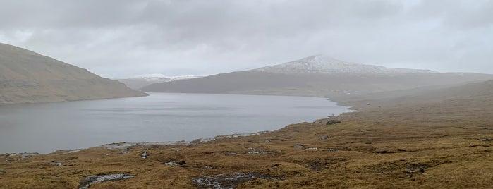 Sørvágsvatn is one of Faroe Island.