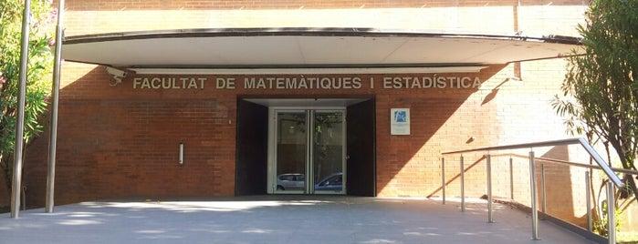 Facultat de Matemàtiques i Estadística UPC is one of Barcelona.