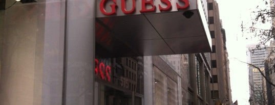 GUESS is one of When in New York.