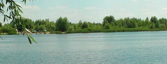 Пляж на зеркальних озерах is one of парки, озера Киева.
