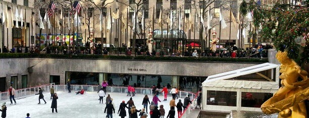 The Rink at Rockefeller Center is one of New York.