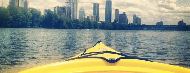 Lady Bird Lake is one of Austin 4 the 4th.