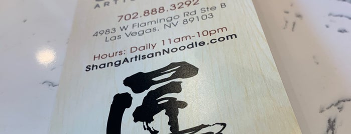 Shang Artisan Noodle is one of Vegas BANKICON.