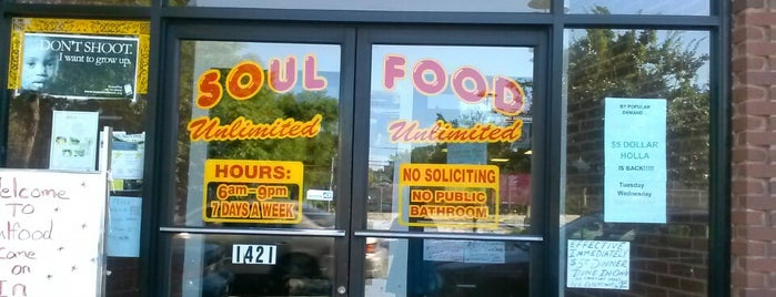 Soul Food Unlimited is one of Rick E'nin Kaydettiği Mekanlar.