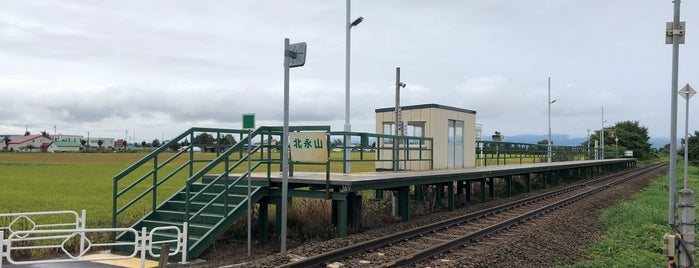 Kita-Nagayama Station is one of JR 홋카이도역 (JR 北海道地方の駅).