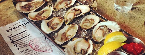 Eventide Oyster Co. is one of Out of town Restaurants.