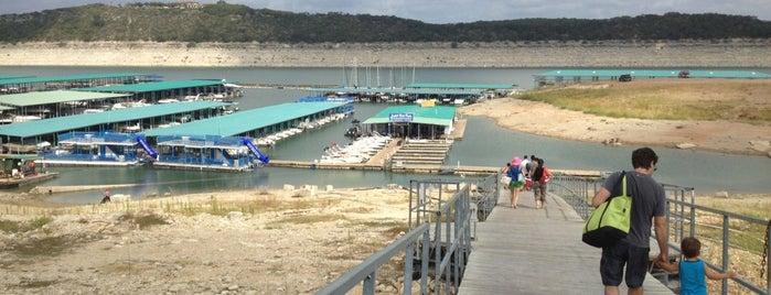 Lake Travis Marina is one of Tempat yang Disukai Sam.