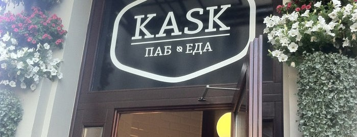 Kask Beer Cafe is one of Lieux sauvegardés par Elena.