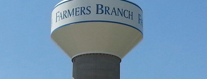 Farmers Branch Watertower is one of Places to go.