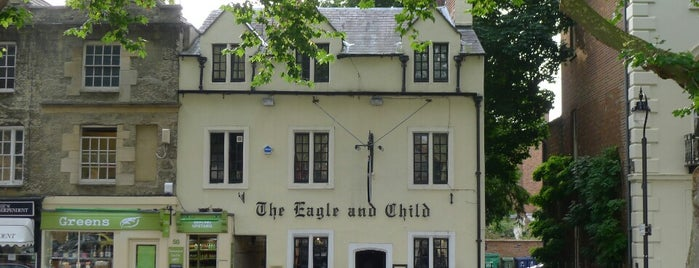 The Eagle & Child is one of oxf.
