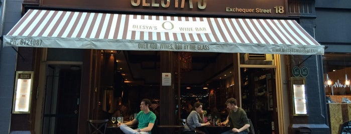 Olesya's Wine Bar is one of Drinkin' Dublin.