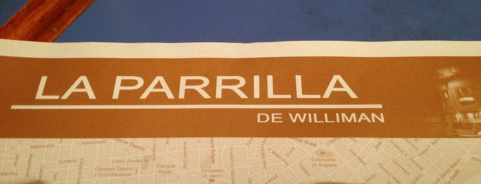 La Parrilla De Williman is one of Tempat yang Disukai Agustin.