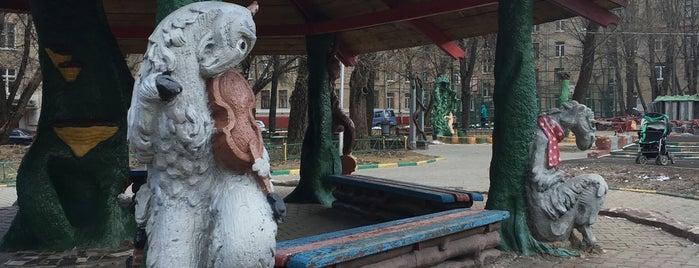 """Детская площадка """"Басни Крылова"""" is one of Lugares guardados de Ksu."""