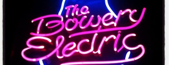 The Bowery Electric is one of Places to drink alcohol.