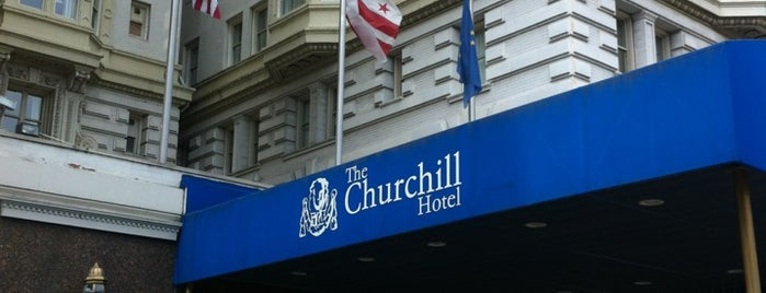 Churchill Hotel Near Embassy Row is one of สถานที่ที่ Tiffany ถูกใจ.