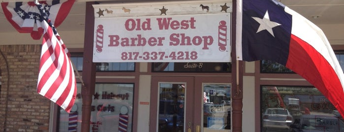 Old West Barbershop is one of Orte, die Zach gefallen.