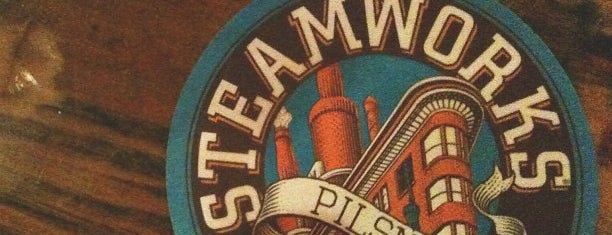 Steamworks Brewing Company is one of Tempat yang Disukai Marie.