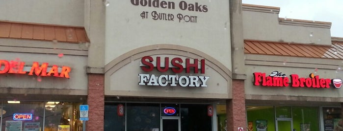 Sushi Factory is one of Locais curtidos por Brian.